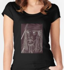 Ghost Captain - Johnny Depp Women's Fitted Scoop T-Shirt