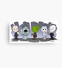 Doctor Who Monsters ... Peanuts Style Canvas Print