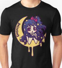 Werepop - galaxy moon starry night girl T-Shirt