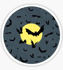 Bat Swarm Sticker