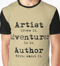 Artist, Adventurer, Author Graphic T-Shirt