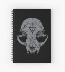 Cat Skull Spiral Notebook