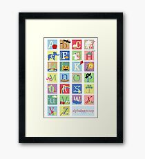 Alphabet Soup Framed Print