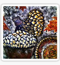 Colorful Acorns in the Fall Sticker