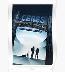 Ceres - NASA/JPL Travel Poster Poster