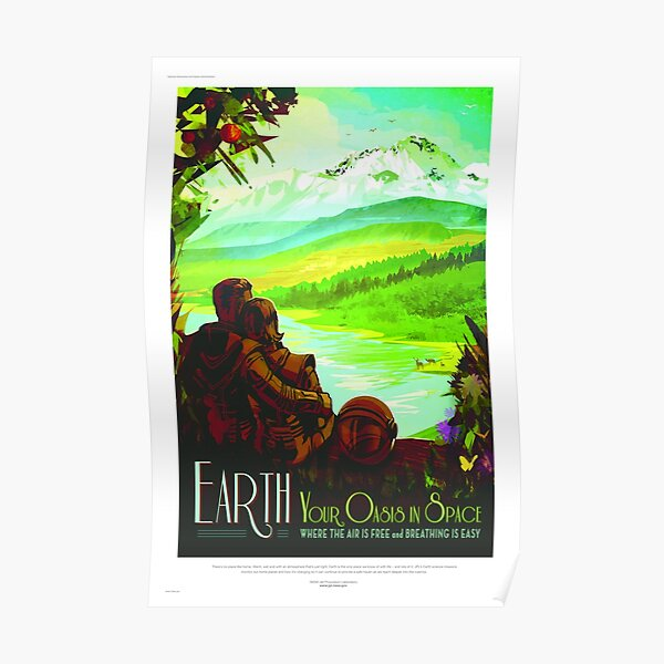 Earth - NASA/JPL Travel Poster Poster
