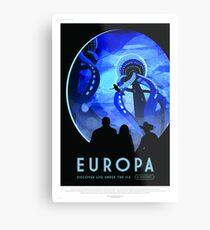 Europa - NASA/JPL Travel Poster Metal Print