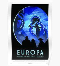 Europa - NASA/JPL Travel Poster Poster