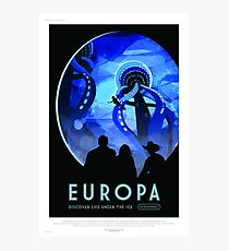 Europa - NASA/JPL Travel Poster Photographic Print