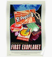 First Exoplanet - NASA/JPL Travel Poster Poster