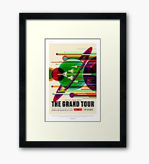 The Grand Tour - NASA/JPL Travel Poster Framed Print