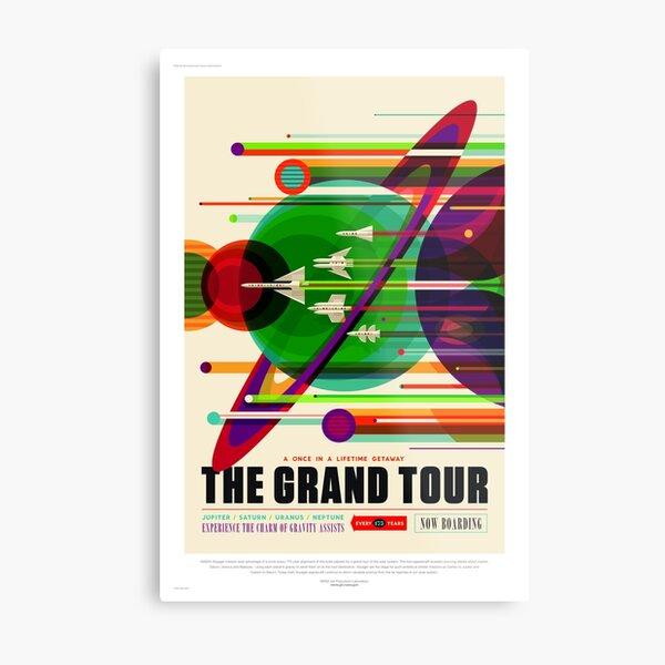 The Grand Tour - NASA/JPL Travel Poster Metal Print