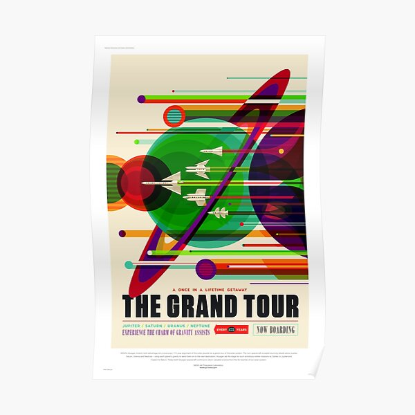 The Grand Tour - NASA/JPL Travel Poster Poster