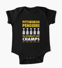 Penguins de Pittsburgh 5x Champs Bodies - Manches courtes