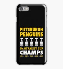 Pittsburgh Penguins 5x Champs iPhone Case/Skin