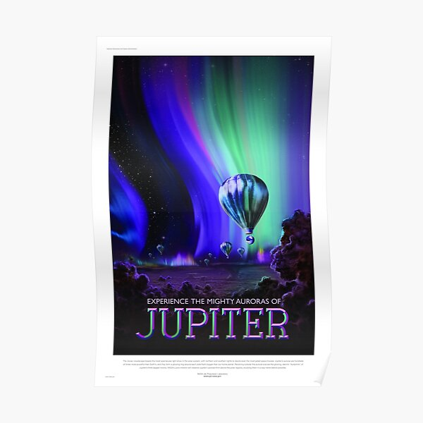 Jupiter - NASA/JPL Travel Poster Poster