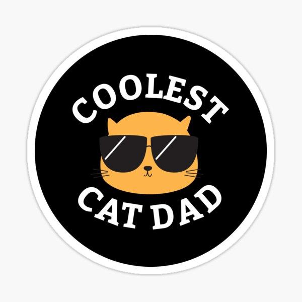 Coolest Cat Dad Sticker