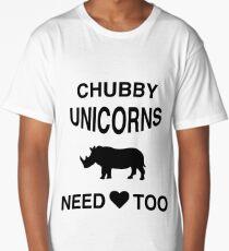 Funny Meme T-Shirt - Chubby Unicorns Need Love Too Long T-Shirt