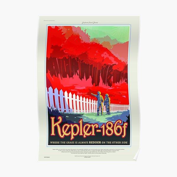Kepler-186f - NASA/JPL Travel Poster Poster