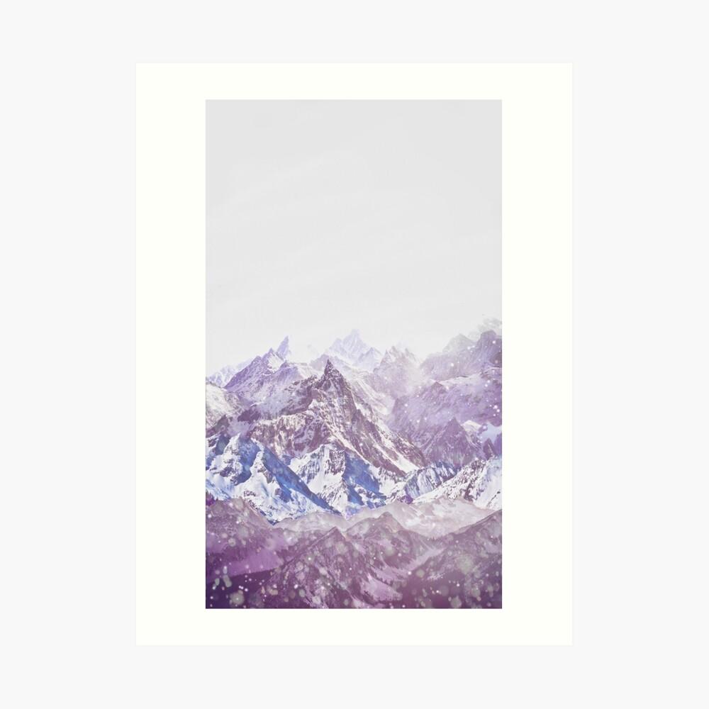 Berge Kunstdruck