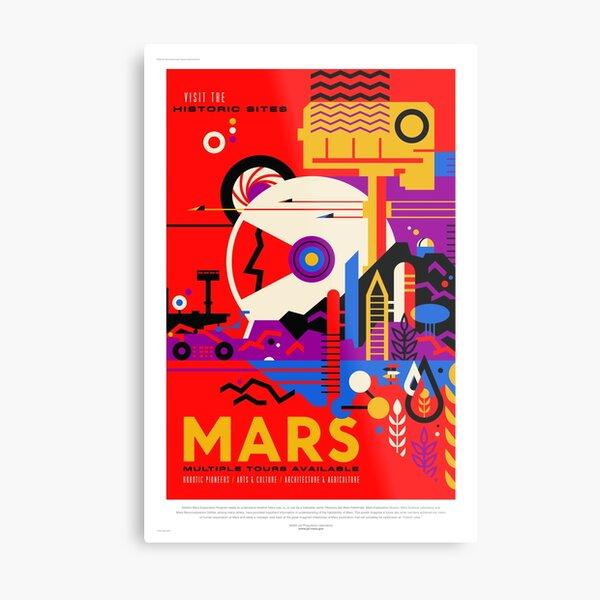 Mars - NASA/JPL Travel Poster Metal Print