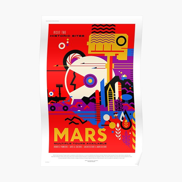 Mars - NASA/JPL Travel Poster Poster