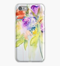 Flowing flowers iPhone Case/Skin