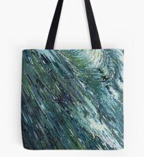 Grey & Blue Crossing Ocean Waves Margaret Juul Tote Bag