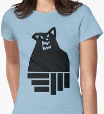 Russ Diemon Wolf Womens Fitted T-Shirt
