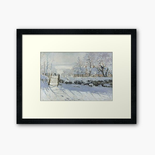 The Magpie by Claude Monet Framed Art Print