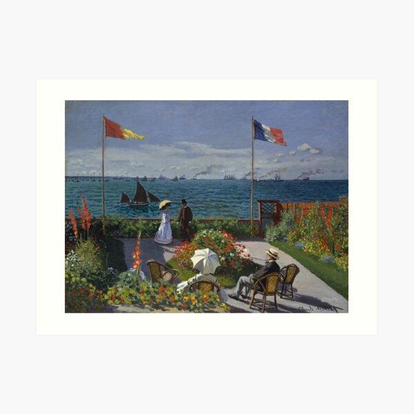 Garden at Sainte-Adresse by Claude Monet Art Print