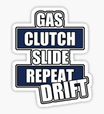 Gas clutch slide drift Sticker