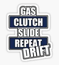 Gas clutch slide drift Sticker