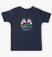 Rainbow Love Unicorns Kids Tee