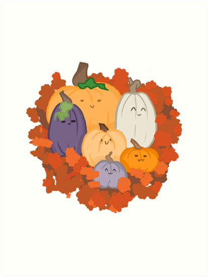 Autumnal Pumpkin Family by onlyjustginger