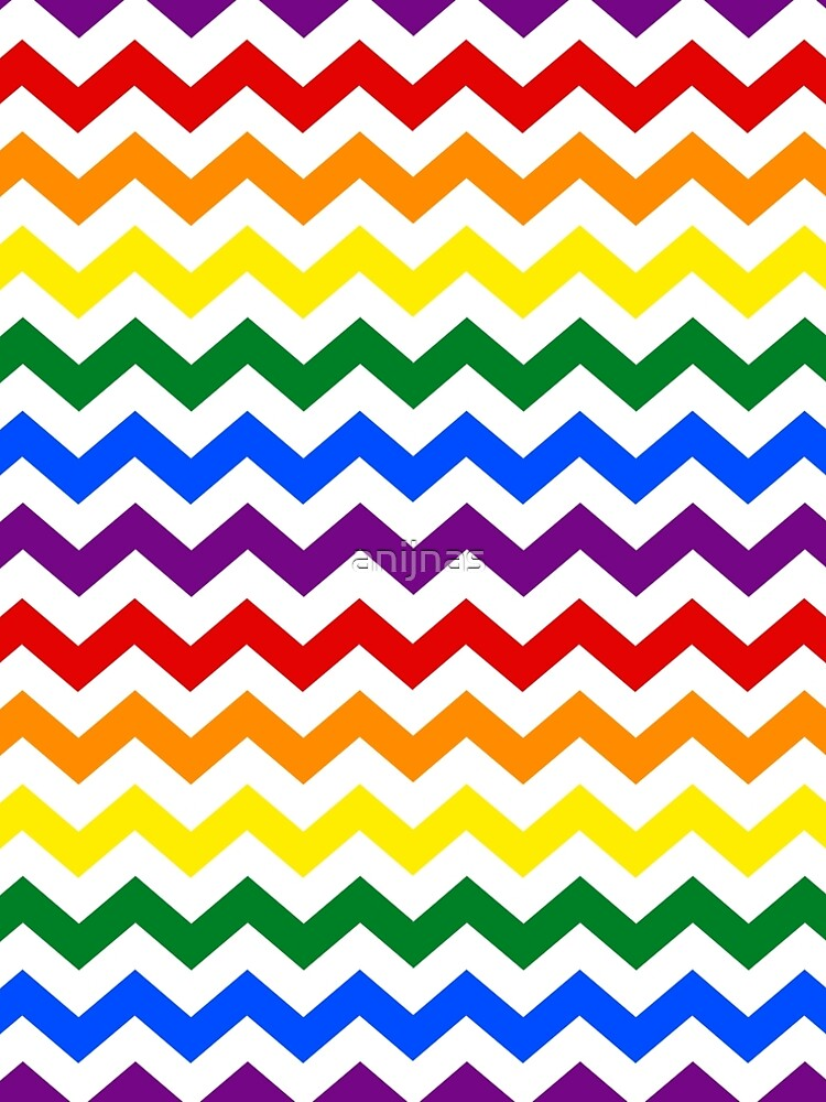 Rainbow Chevron Pattern Pride Colors Rainbow ALine Dress By Amazing Cheveron Pattern