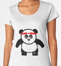 PANDA ACTION Women's Premium T-Shirt