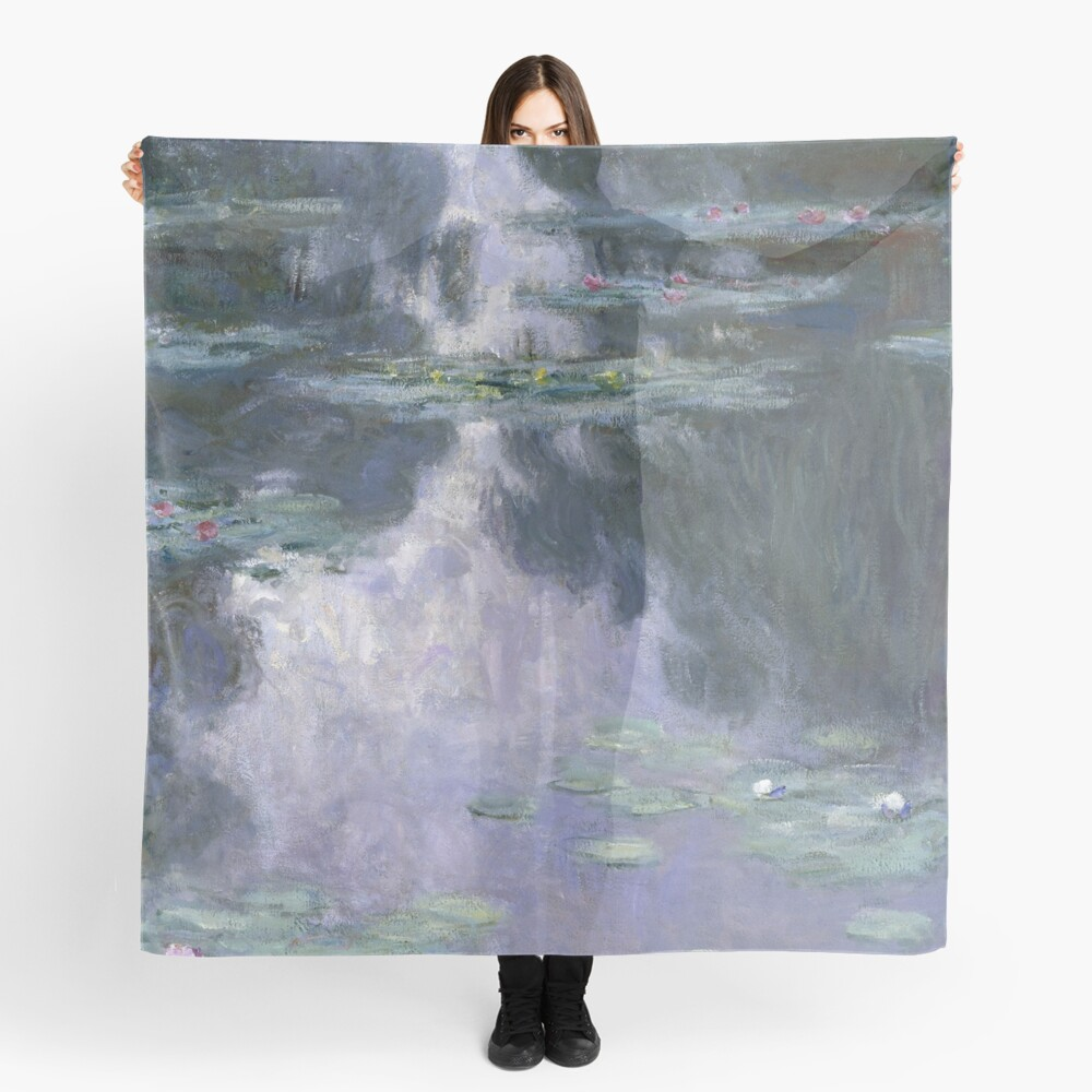 Water Lilies (Nymphéas) by Claude Monet Scarf