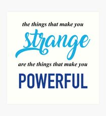 """The Things That Make You Strange Are the Things that Make You Powerful"" Ben Platt Acceptance Speech  Art Print"