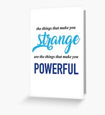 """The Things That Make You Strange Are the Things that Make You Powerful"" Ben Platt Acceptance Speech  Greeting Card"