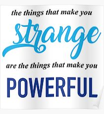 """The Things That Make You Strange Are the Things that Make You Powerful"" Ben Platt Acceptance Speech  Poster"