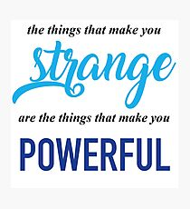 """The Things That Make You Strange Are the Things that Make You Powerful"" Ben Platt Acceptance Speech  Photographic Print"