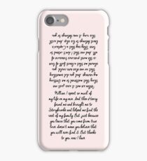 Emma and Killian's Wedding Vows (check the other for Samsung models) iPhone Case/Skin