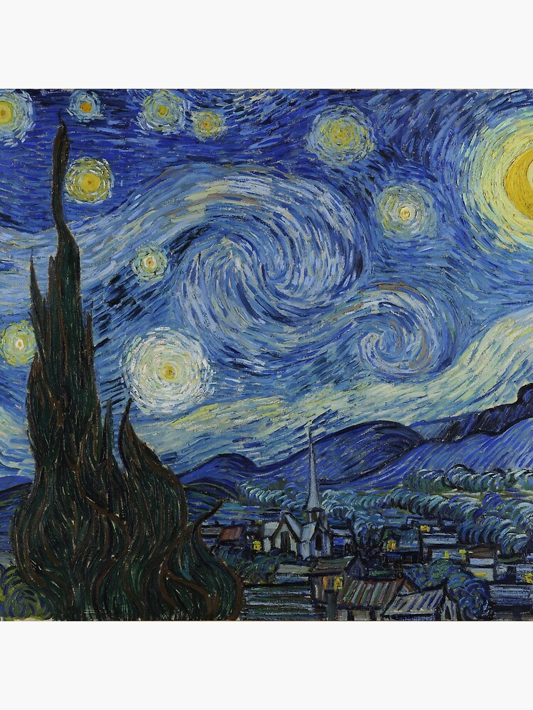 The Starry Night by Vincent van Gogh by robertpartridge