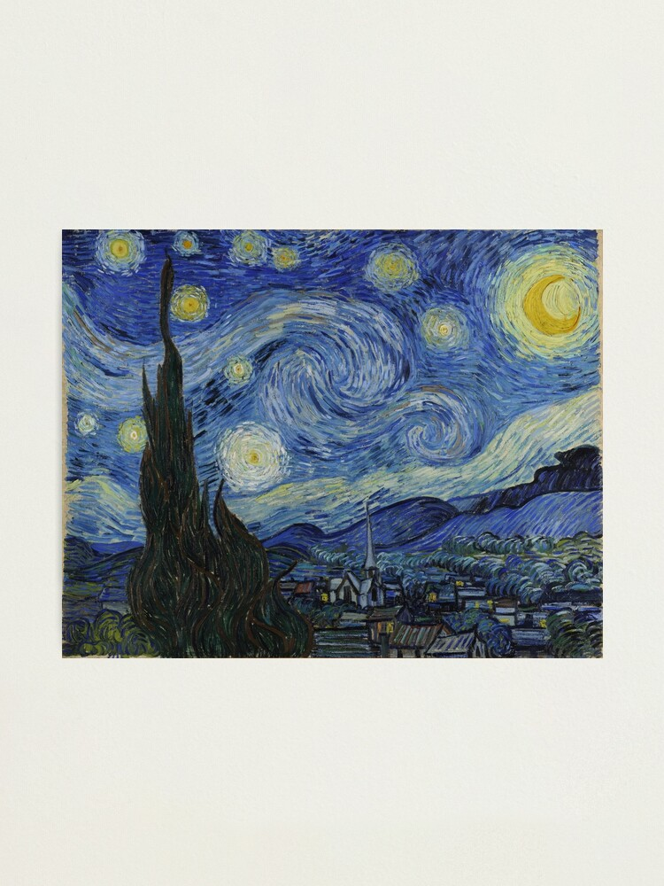 Alternate view of The Starry Night by Vincent van Gogh Photographic Print