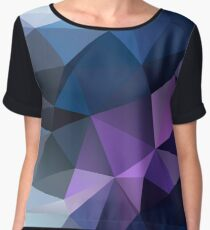 Abstract print geometrical pattern of triangles polygon. Fabric design in bright colors Women's Chiffon Top