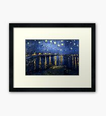 Starry Night Over the Rhone by Vincent van Gogh Framed Print