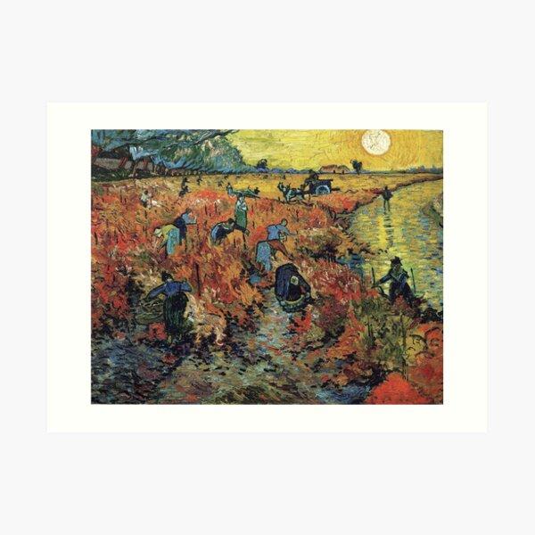 The Red Vineyard by Vincent van Gogh Art Print