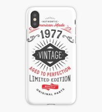 Funny Vintage 1977 40th Birthday Party iPhone Case/Skin