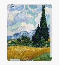 Wheat Field with Cypresses by Vincent van Gogh iPad Case/Skin